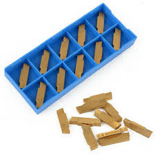 <b>10pcs MGMN300</b>-<b>M</b> Golden Carbide <b>Inserts</b> For MGEHR/MGIVR ...
