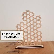<b>Honeycomb</b> jewelry organizer / <b>Jewelry holder</b> / Bee <b>jewelry stand</b> ...