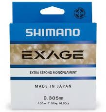 Монофильная леска <b>леска Shimano Exage 150м</b> (0.125мм- 0.305 ...