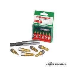 <b>Набор бит Hammer</b> PB No1 7шт (<b>203-901</b>) купить в интернет ...