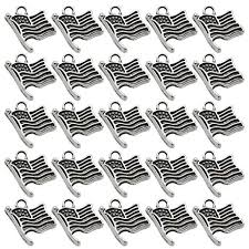 <b>50PCS</b> Alloy American Flag Pendants Charms <b>DIY Jewelry</b> Making ...