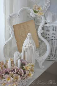 sweet, simple home altar - love the stand holding a prayer ...