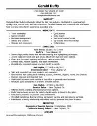 hairstylist resume   best resume collection  hair stylist resume templates