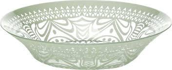"""<b>Тарелка</b> суповая <b>Pasabahce</b> """"<b>Boho</b> """", цвет: зеленый, диаметр 22 см"""