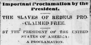 「Emancipation Proclamation」の画像検索結果