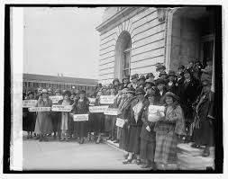 progressive era reformers history of u s w s suffrage women from new jersey at the capitol during a prohibition hearing library of congress