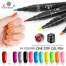 <b>Saviland 3</b> In 1 Gel Nail Varnish Pen Glitter UV Polish Pencil Nail ...