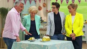 Great British Bake Off presenters: Paul Hollywood, Mary Berry, Sue Perkins, Mel Giedroyc