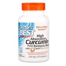 Doctor's Best, Curcumin, High Absorption, 500 mg, 120 Capsules ...