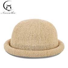 <b>Fibonacci 2019 New</b> Female Mushroom Brim Fedoras Cotton Linen ...