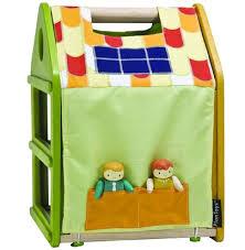 PlanToys New Affordable Fold  amp  Go Play House for Dollseco toy  green toys  non toxic toys  plantoys  green dollhouse