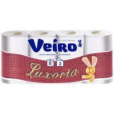 <b>Бумага туалетная Veiro Luxoria</b> белая 3-слойная 8 рулонов ...