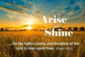 Image result for shining in the light of His Glory