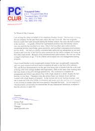 sample recommendation letter for employee from manager letter doc