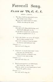 centenary collegiate institute taylor memorial library archives class day program 1878 the class song of 1878