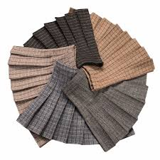 <b>2018</b> Women High Waist Casual Wool Pleated Skirt <b>Japanese</b> ...