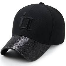 Korean Style Men Women's Hip Hop <b>Dad Hat</b> Sequin <b>Curved Brim</b> ...