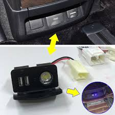 For alphard vellfire 30 modified USB Charging Port Interface with led ...