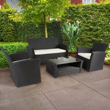 outdoor patio garden furniture wicker rattan sofa set black black garden furniture