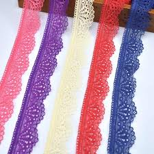 <b>10yards</b>/<b>Lot</b> Elastic lace ribbon 24mm African lace fabric white lace ...