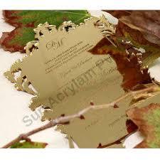 <b>Golden Mirror Acrylic Wedding</b> Invitation Sheet, Thickness: 1-30 Mm ...