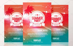 party flyer template psd for summer christmas and new year print ready summer party flyer template