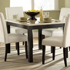 piece faux marble dining set black