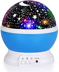 Luckkid Baby Night Light Moon Star Projector <b>360 Degree Rotation</b>