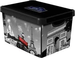 Коробка <b>Curver Stockholm</b> M <b>Paris</b> (04710-P35) - характеристики ...