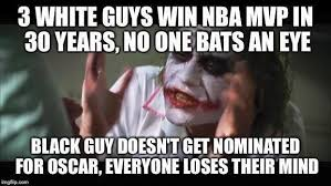 Meme Perfectly Compares NBA and Oscars and Destroys Racist Liberals via Relatably.com