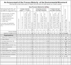 self assessment of your organization note the blank rows at the bottom for measuring the maturity of your own and similar organizations or where you hope to be 2 5 or 10 years from now