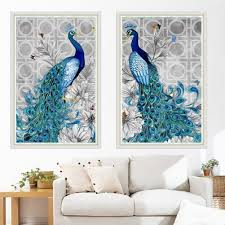 Ready  5D <b>Diamond Painting DIY Peacock</b> Stitch crossCraft Kit ...