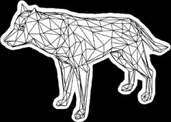 <b>Wolf Car</b> Decals & Stickers   Wild Animal Stickers