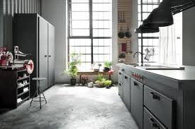 Concrete Floor Kitchen Milan Loft Innovates Through Harmonious Eclecticism