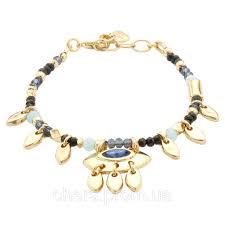 Женский <b>позолоченный браслет</b> с подвесками и кристаллами ...