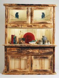 rustic hutch dining room: rustic dining log hutch bt hthutch lg rustic dining log hutch