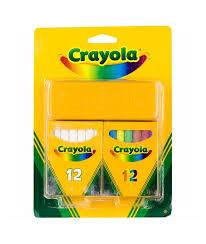 <b>Мелки Crayola</b> Набор <b>белых</b> и цветных <b>мелков</b>, 24 шт