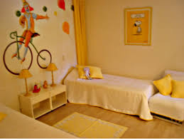 enchanting childrens room decorating ideas cute yellow childern bedroom design with bicycle wallpaper decor coolest furniture amazing kids bedroom ideas calm