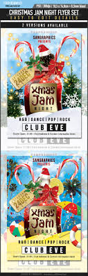 beautiful christmas posters and flyer design templates entheos christmas jam flyer set