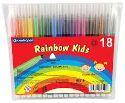 <b>Centropen</b> Набор <b>фломастеров Rainbow Kids</b> (7550), 18 шт ...