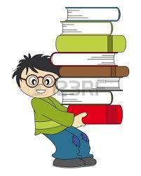 Resultat d'imatges de niños cargando libros