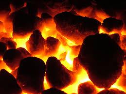 hot coals for punishment for talking in church?