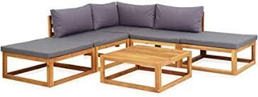 vidaXL Solid Acacia Wood 6 Piece Garden Lounge ... - Amazon.com