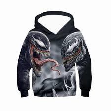 PLstar Cosmos <b>Venom</b> Hoodie Goku 3D zip Hoodies kids autumn ...