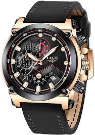 LIGE Watches <b>Men Fashion</b> Casual Sport <b>Waterproof</b> Analog <b>Quartz</b> ...