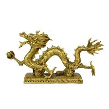 feng shui dragon traditional brass sculpture chinese feng shui dragon