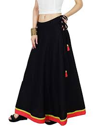 Bimba <b>Women Long Boho Maxi</b> Skirt Cotton Flared A-Line Skirts with...