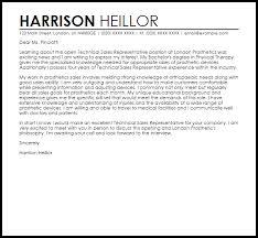 technical sales representative cover letter sample sales rep cover letter