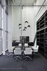 black and white office library corporate office interior design baya park company office design