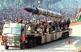 republic day of india –  january agni missile at republic day parade